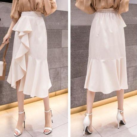 #26魅惑のフリルマーメイドスカート
