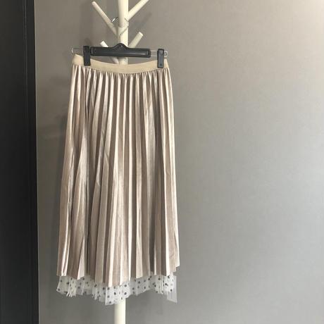 #39ベロアとドットのリバーシブルスカート