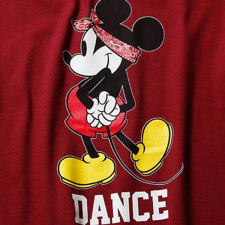 ダンスミッキーマウスTシャツ2017 Ver(ワインレッド)