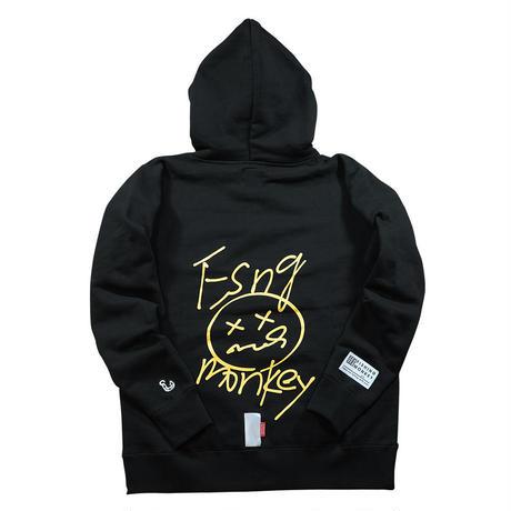 スクリィブルフーディー BLACK  フィッシングモンキー/FISHING MONKEY