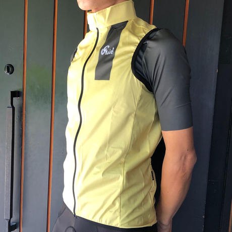 WIND SHIELD VEST   LIGHT YELLOW 【SALE 50%OFF 】