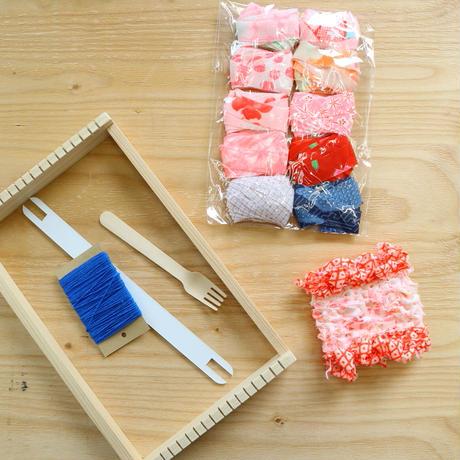 キモノヤーンの織物キット【7/31 20時再販】~musubiさん手作り木枠織機とキモノヤーン~