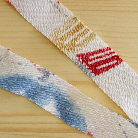【幅25mm】生成に色とりどりの草花柄2m(2008113)