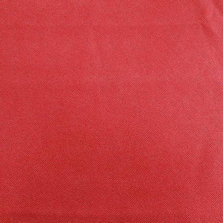 【はぎれ】赤の鮫小紋・縮緬50㎝(2008031-1)
