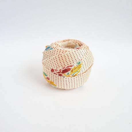 白地に水玉と草花模様・小紋2m