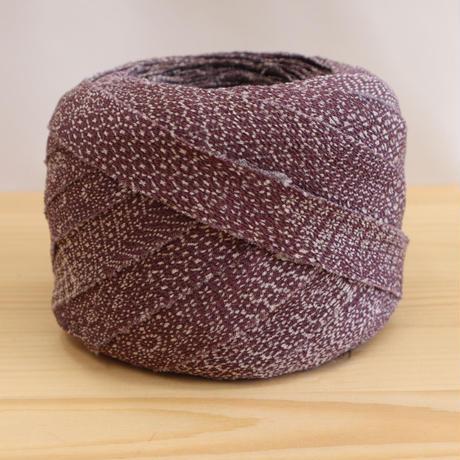【10m】くすんだ紫に様々な江戸小紋の紋様・縮緬10m(10177)