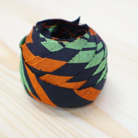 萌黄・柿・黒の縞模様2m(592)