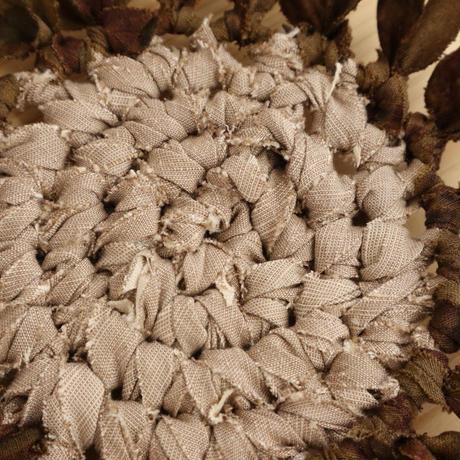 【編み物キット】ブラウンのお花のコースターキット(初心者にお勧め)