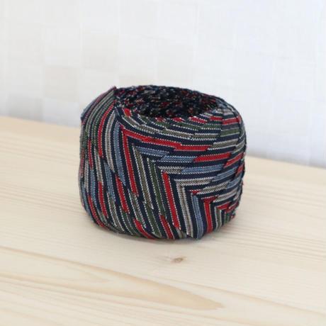 紺・赤・緑・青・茶の縞模様2m(618)