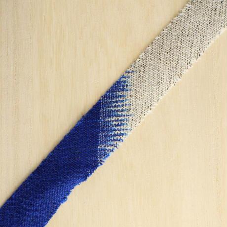 鮮やかな青と薄い灰色のグラデーション・交織(738)