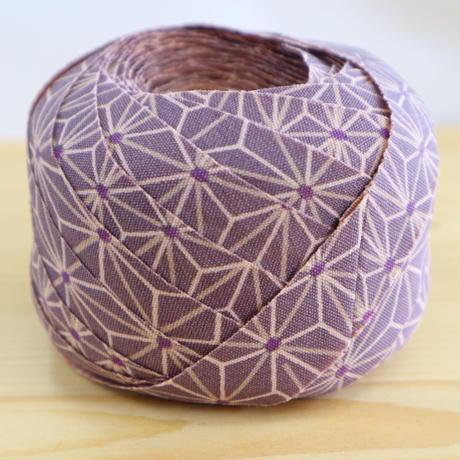 紫の麻の葉柄・交織2m(2004095)
