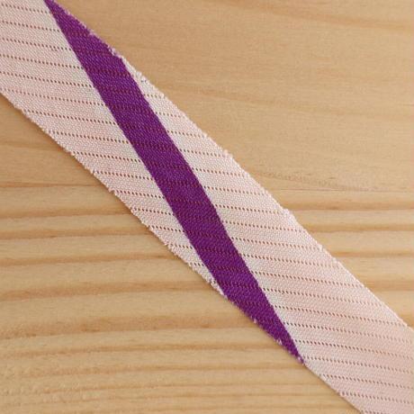 【10m】ピンクベージュに朱・紫・緑・黄の柄・絽10m(10191)