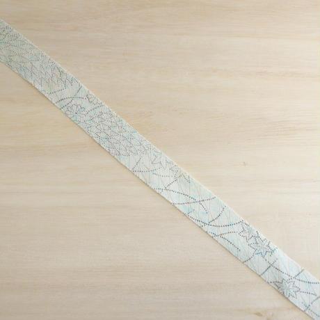 白に薄い水色・花柄2m(2005060)