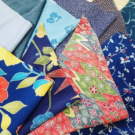着物のハギレ50種レターパックに詰めつめいっぱい