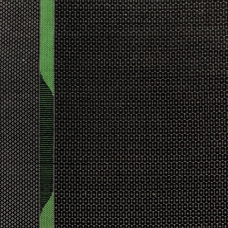 【はぎれ】黒に緑の幾何学模様・交織(2107013ー1)