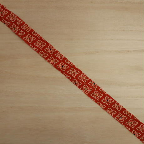 臙脂に花菱小紋・縮緬2m(2008013)