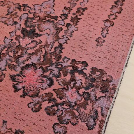 【はぎれ】薄紅色に花柄・交織(2008012-1)