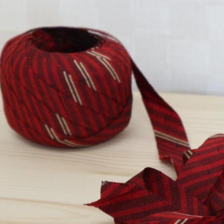 赤・黒・薄茶の縞模様2m(613)