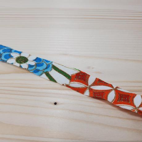 桃色に鮮やかな草花と吉祥模様2m(631)