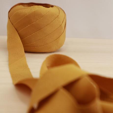 辛子色の色無地・桐紋織縮緬2m(2008029)