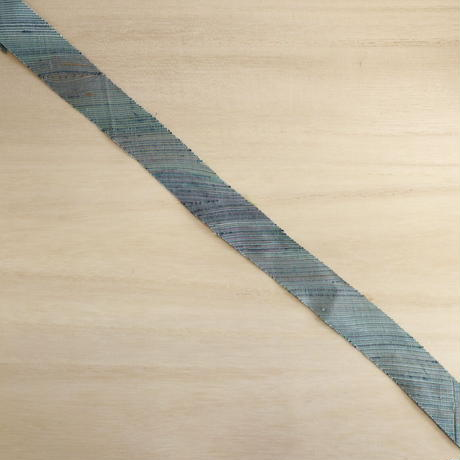 縹色の色糸暈し・紬2m(2008018)
