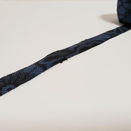 【再販】黒地に青の菊柄(10105)