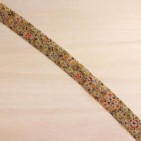 朽葉色の華紋・小花柄・縮緬2m(2008036)