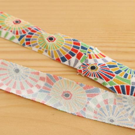 色とりどりの傘柄・縮緬2m(2008091)