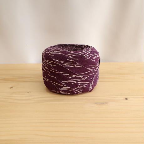【10m】紫に白の松葉柄・縮緬(10155)