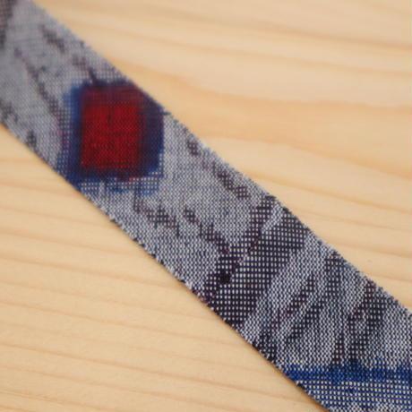 斜め格子模様織り出し紬2m(622)