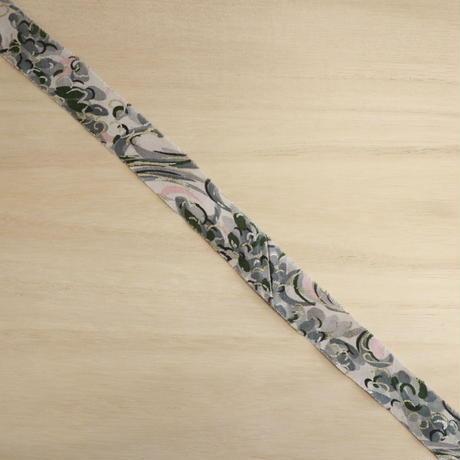 灰色の流水に花柄・交織2m(2008010)
