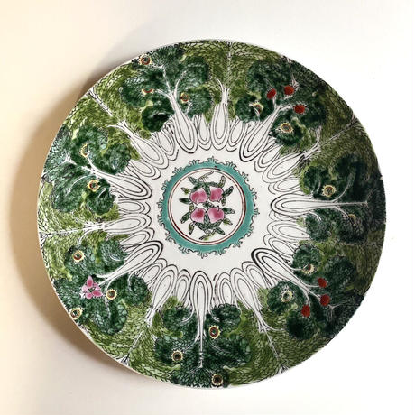 白菜と桃 百財皿 o-053