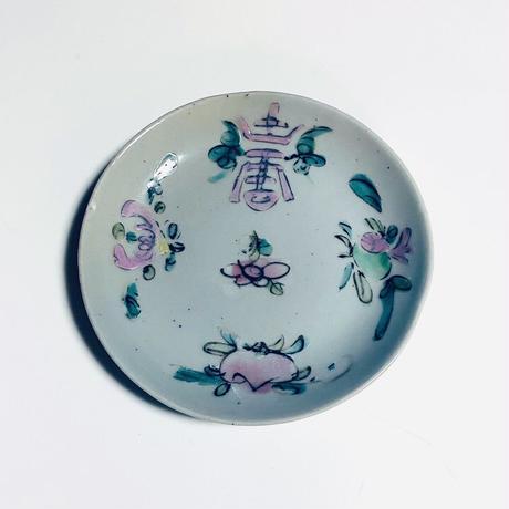 粉紅壽 粉彩皿 o-158