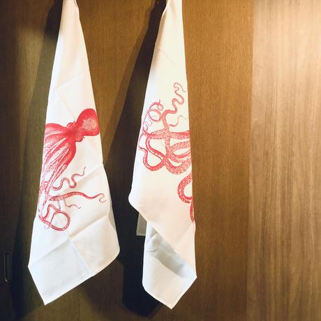 ティータオル 蛸 o-021