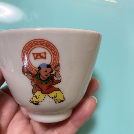 景徳鎮 四季常春 茶杯B o-017