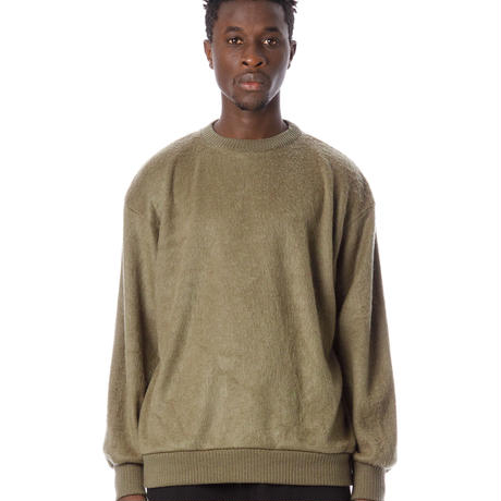 SANDINISTA-Shaggy Knit Top【OLIVE】