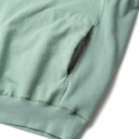 SANDINISTA-Side Pocket Hooded Sweatshirt【BLUE GREEN】