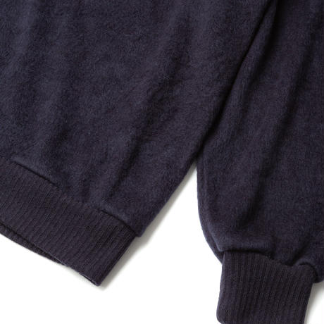SANDINISTA-Shaggy Knit Top【NAVY】