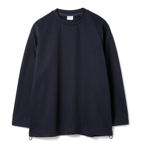 SANDINISTA-Double Knit Drawstring Pocket L-S Tee【NAVY】