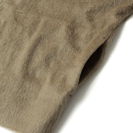 SANDINISTA-Shaggy Knit Cardigan【OLIVE】