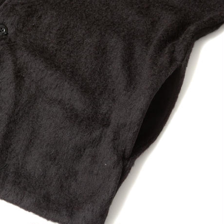 SANDINISTA-Shaggy Knit Cardigan【BLACK】
