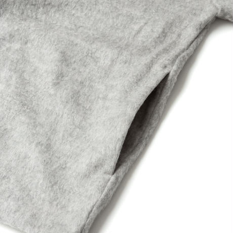 SANDINISTA-Shaggy Knit Cardigan【GRAY】