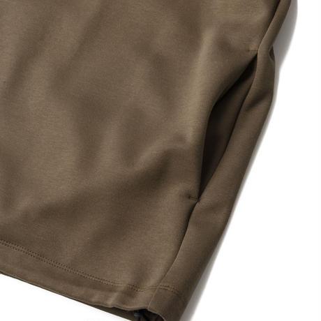 SANDINISTA-Double Knit Drawstring Pocket L-S Tee【KHAKI】
