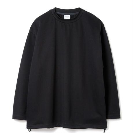 SANDINISTA-Double Knit Drawstring Pocket L-S Tee【BLACK】