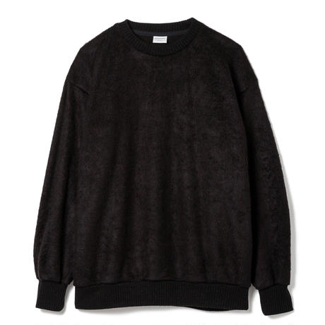 SANDINISTA-Shaggy Knit Top【BLACK】