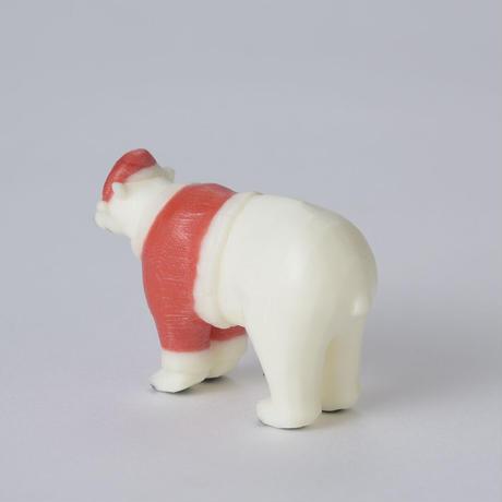 クリスマスしろくまフィギュア(四足)