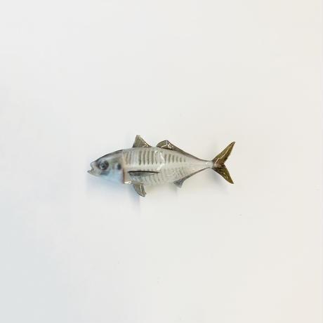 小田原産スケルトン鯵ブローチ(5cm)