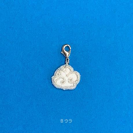 刺繍マスクチャーム(雲・銀)2種