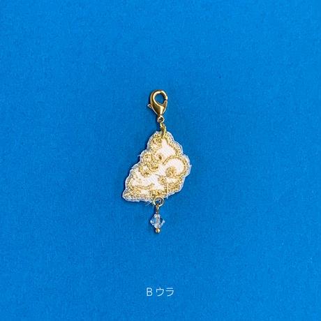刺繍マスクチャーム(雲・金)2種