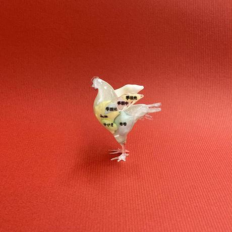 部位スケルトン鶏フィギュア(6cm)